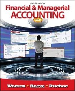 managerial accounting warren reeve duchac 11e