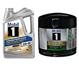 Mobil 1 Extended Performance High Mileage Formula Motor Oil 5W-20, 5-Quart, Single Bundle M1-210A Extended Performance Oil Filter