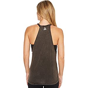 Reebok Women's Studio Faves Fitted Tank Top Black Large