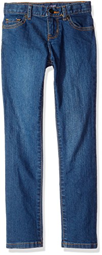 The Children's Place Girls Size Super Skinny Jeans, Victory Blue 25702, 8 Slim