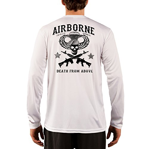 Dead Or Alive Clothing Men's Airborne Death From Above UPF 50+ Long Sleeve T-Shirt XXX-Large - Mens Alive T-shirt