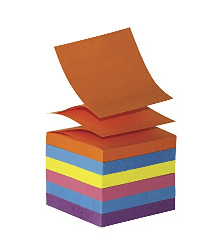 School Smart Pop Up Self Stick Notes - 3 x 3 inches - 12 Pads of 100 Sheets - Assorted Brights