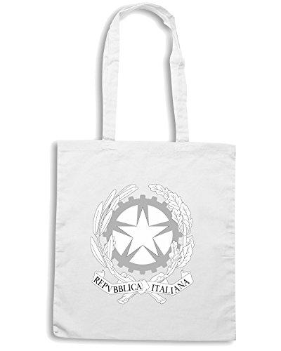 T-Shirtshock - Bolsa para la compra TM0126 Repubblica Italiana1 citta Blanco