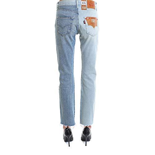 Claire Bleu Jeans Coton WSS18PA2BLUE VETEMENTS Femme qFwnH7xS