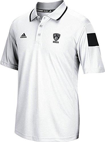 NBA Brooklyn Nets Men's Full Color Logo Polo Shirt, Large, White