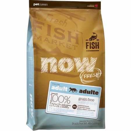 Petcurean Now Fresh Grain Free Fish Adult Recipe Cat Food - 4lb