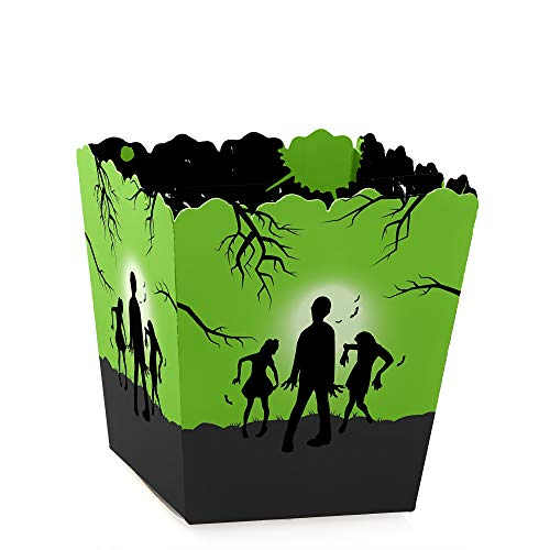 Zombie Zone - Party Mini Favor Boxes - Halloween or Birthday Zombie Crawl Party Treat Candy Boxes - Set of 12 -