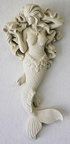 Seashell Statue - Flowing Hair Mermaid