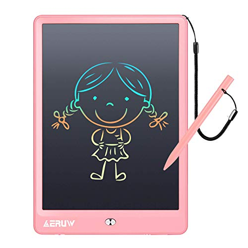 LCD Writing Tablet ERUW 10 Inch Electronic Graphics Drawing Pads, Drawing Board eWriter, Digital Handwriting Doodle Pad with Memory Lock for Kids Home School Office