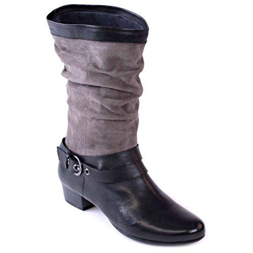 Marc Schuhe Damen Stiefel Stiefeletten Leichtfutter schwarz Modena 1-444-15-19