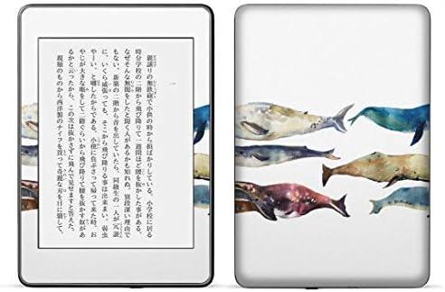 igsticker kindle paperwhite 第4世代 専用スキンシール キンドル ペーパーホワイト タブレット 電子書籍 裏表2枚セット カバー 保護 フィルム ステッカー 015833 魚 海 くじら シャチ