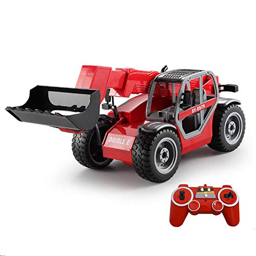 WXIAORONG Rc Trucks Toy Car Model - Remote Telescopic Loader Forklift Large Truck Transportation Electric Simulation Engineering Car Model Car Child Boy - Loader Model