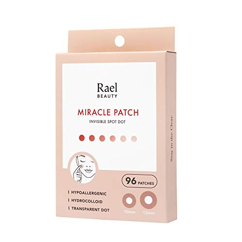 Rael Acne Pimple Healing Patch – Absorbing Cover, Invisible, Blemish Spot, Hydrocolloid, Skin Treatment, Facial Stickers…