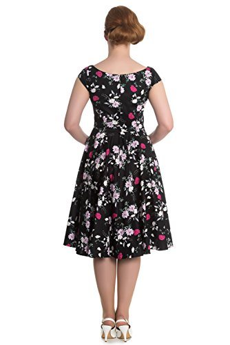 Black Hell Kleid DRESS BELINDA 50'S black Bunny 4568 T0qHrT
