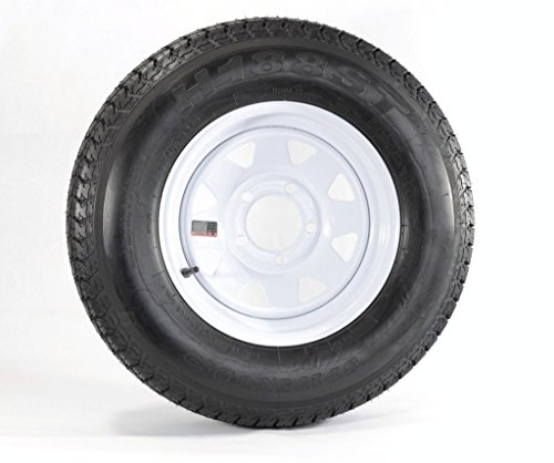 TRAILER UTILITY WHITE SPOKE WHEELS
