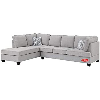 Amazon.com: Sectional Sofa Set, Linen Fabric Sofa Set with ...