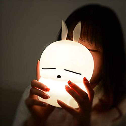 Gotian Cartoon Rabbit Silicone Light Night for Children Bedroom Night Lamp,Nice Children Kid Gift Home Party Decor (135x135x216mm),Perfect for Bedroom, Living Room, Bedside, Office