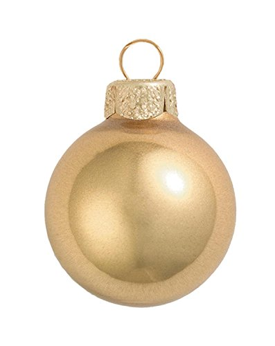 12ct Metallic Gold Glass Ball Christmas Ornaments 2.75'' (70mm) by Whitehurst