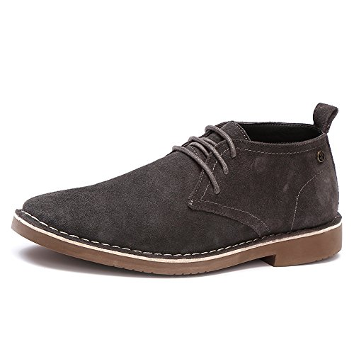 Golaiman Men's Classic Suede Leather Chukka Boots Lace Up Casual Oxford Shoes Low Top Desert Boot (Grey9)
