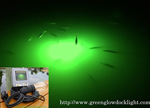 21,000 Lumens, Green Underwater Fish Light Kit w/50' Lamp Cord, Dock Light by Green Glow Dock Light
