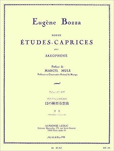 Livres 12 ETUDES-CAPRICES SAXOPHONE epub, pdf