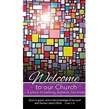 Warner Press 301223 Pew Card - Welcome To Our Church & Stained Glass