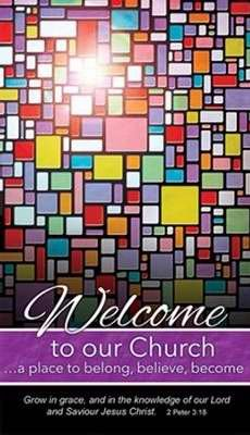 (Warner Press 301223 Pew Card - Welcome To Our Church & Stained Glass)