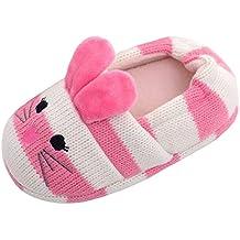Beeliss Toddler Girls Slippers Cartoon Animal Crochet Shoes