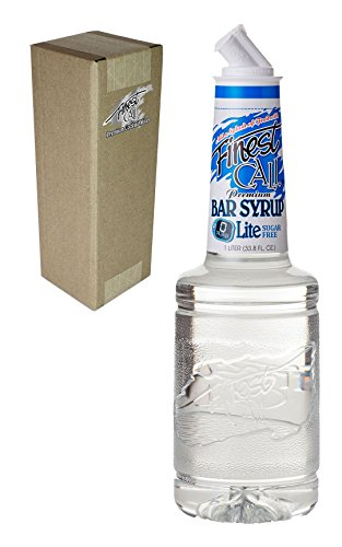 Finest Call Premium Bar/Sugar Syrup Mix LITE, 1 Liter Bottle (33.8 Fl Oz), Individually Boxed
