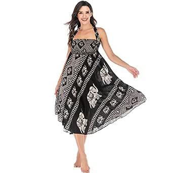 Mujeres Sexy Cuello En V Vestidos Wrap Floral Impreso ...