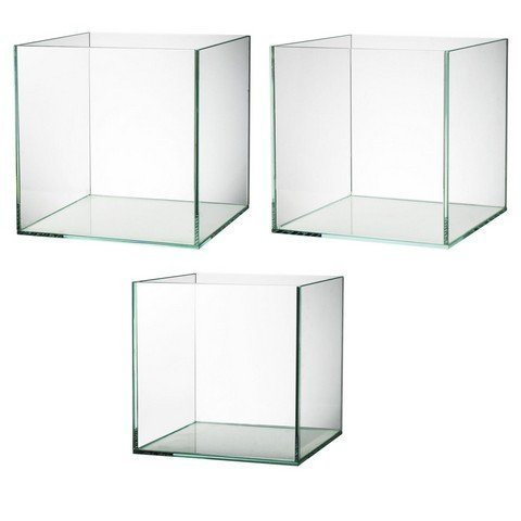 A&B Home 75784 3 Piece Decorative Glass Box Set44; Clean