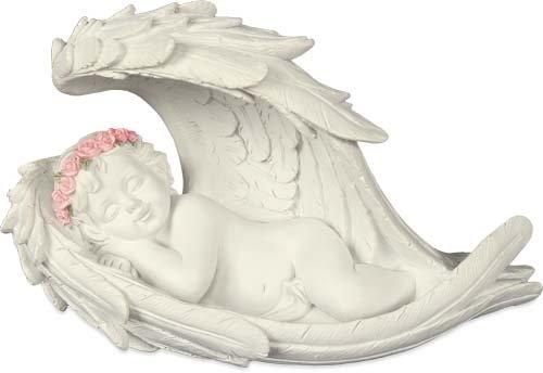 - AngelStar 19276 Peaceful Dreams Cherub Angel Figurine, 8-1/2-Inch