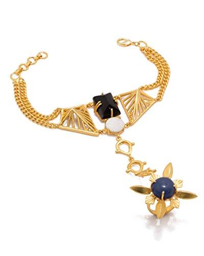 Voylla Women's Slave Bracelet In Gold Tone by Voylla