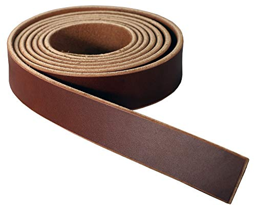 Finished Strips - Premium Wickett & Craig English Bridle Leather Blank Strap, 10-12oz Weight [5/32