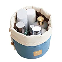 Rancco Cosmetic Storage Bag Travel Kit Organizer, Drawstring Bathroom Toiletry Carry Pouch Case Makeup Box/ Washing Bag w/ Hanging Hook