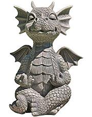 Shumu MystiCalls Tuin Draak Gemediteerd Standbeeld Verzamelen 16cm Hars Ornament Outdoor Tuin Decoratie