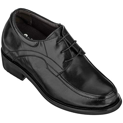 CALDEN - K512631-4 Inches Taller - Height Increasing Elevator Shoes-Black Leather Lace up (7.5 D(M) US) ()