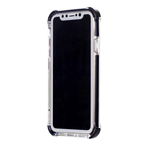 CaseforYou Hülle iphone X Schutz Gehäuse Hülse Premium Shatterproof Anti-Scratch Protective Shell Anti Drop Back Case Schutzhülle für iphone X Handy (Black)