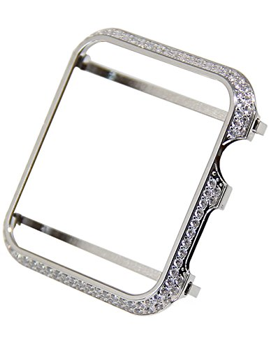 - Callancity 38mm Crystal Diamonds Case face Cover Bezel Compatible with Apple Watch Series 1 2 3 (Platinum for Ceramic Edition)
