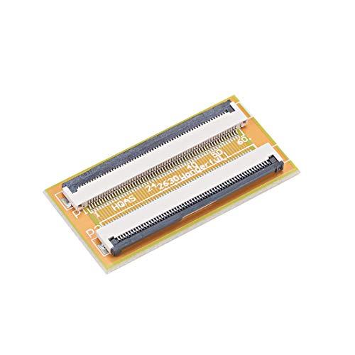 uxcell ピン - ピン0.5 mmピッチFPCコネクタ拡張アダプタ 0.5mmピッチ 60ピン-60ピン延長コネクタアダプタ FFC FPCケーブル延長ZIF HDD 1個入り