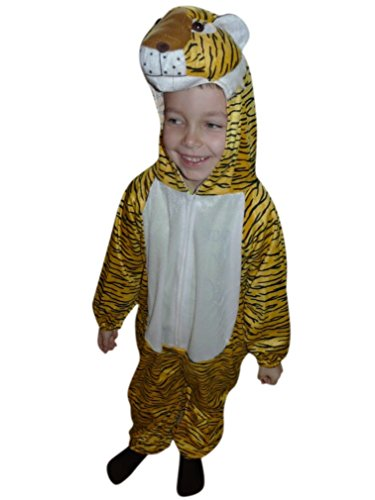 [Fantasy World Boys/Girls Tiger Halloween Costume, Sizes 4T, An28] (Halloween Costume World)