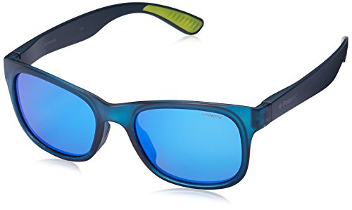 Polaroid Sunglasses PLD3005S Polarized Wayfarer Sunglasses, Blue & Gray Blue Mir Polarized, 51 - Wayfarer Polaroid Sunglasses