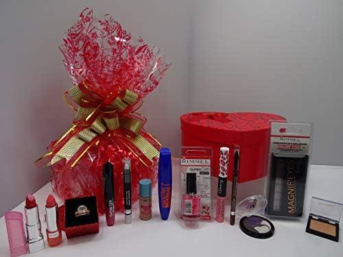 San Valentín Regalo Hamper para su ~ Rimmel London 10pc lujo belleza caja regalo Hamper papel de regalo ~ regalo Hamper para su .607.: Amazon.es: Belleza
