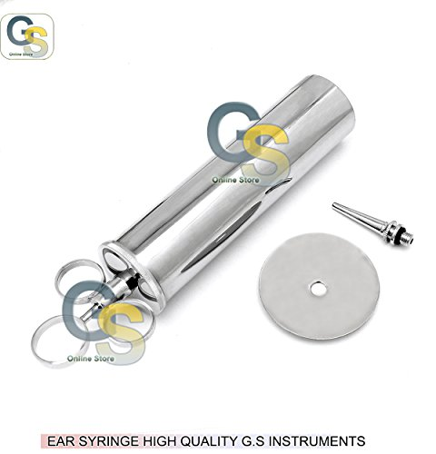 METAL EAR SYRINGE 3 OZ G.S INSTRUMENTS by G.S SURGICAL
