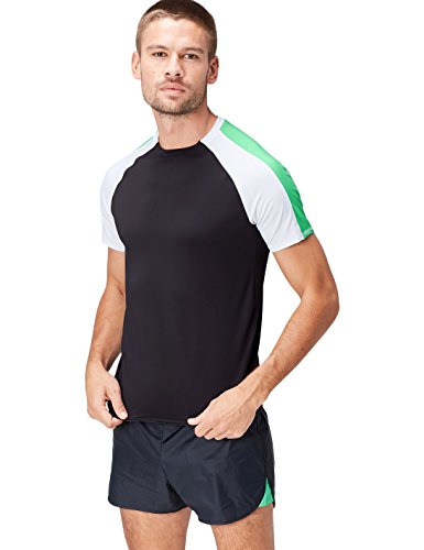white shirt black Colour Green Sportiva T Uomo Block Nero Activewear apple 8ORqwH