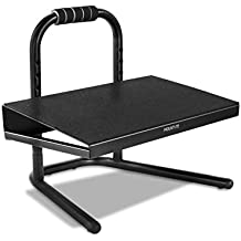 Mount-It! Height Adjustable Foot Rest for Under the Desk, Freestanding with Handle and Six Height Settings, Anti-Slip Padded Surface