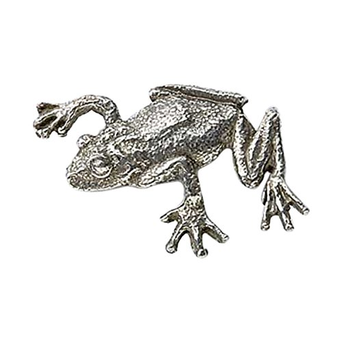 Tree Frog Pin (Creative Pewter Designs, Pewter Tree Frog Climbing Lapel Pin Brooch, Antiqued Finish, A062)