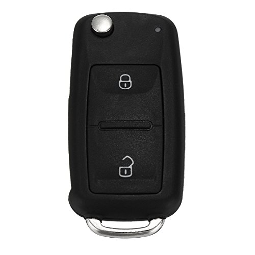 CoCocina 2 Button Remote Key FOB Case With Battery For VW Transporter T5 Polo GOLF Polo by CoCocina