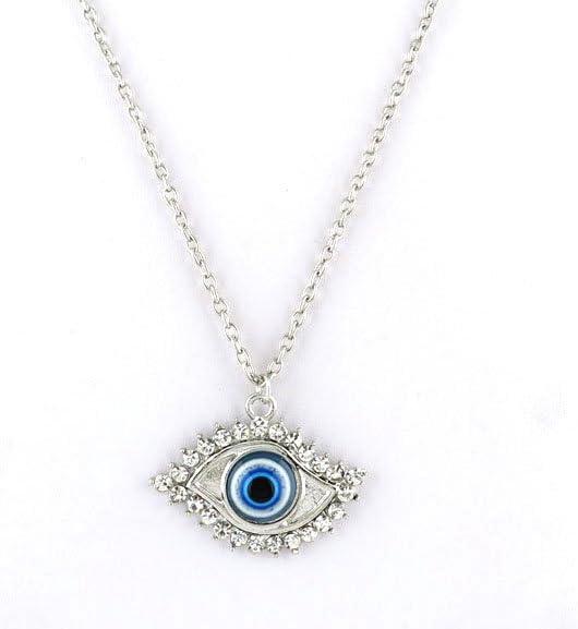 1 Piece Fashion Jewelry Necklace Pendent Charms BKZJ0 Silver Punk Evil Eye Costume Choker Retro Sweater Lace Bib Jewellery