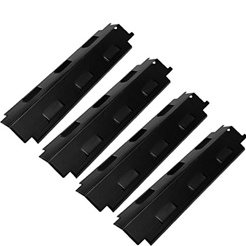 SUONA PT-72 Gas Grill Replacement Parts for Charbroil, Kenmore, Master Chef, Master Forge, Thermos, BBQ Porcelain Steel Heat Shield Plate Tent, Burner Cover Flame Tamer, 14 5/8 x 4 1/4 inch, 4-Pack